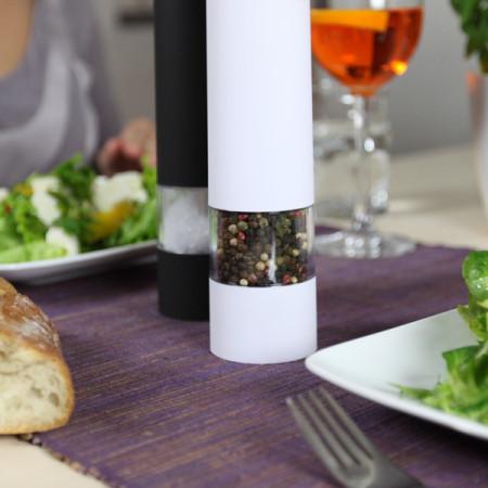 Elektrische Salz- und Pfeffermühle - stylisches Set - BiancoNero